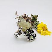 Украшения handmade. Livemaster - original item ring with berill. Handmade.