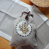 Для дома и интерьера handmade. Livemaster - original item Linen bag for herbs