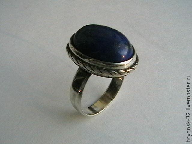 кольцо с лазуритом, Кольца, Брянск, Фото №1