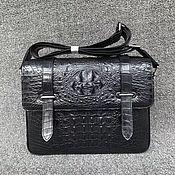 Сумки и аксессуары handmade. Livemaster - original item Men`s bag, embossed crocodile skin.. Handmade.