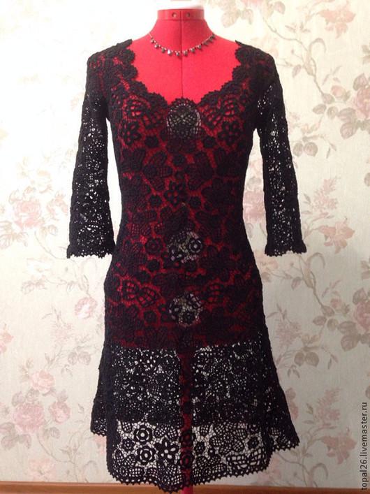 Платья ручной работы. Ярмарка Мастеров - ручная работа. Купить Платье вечернее. Handmade. Ирландское кружево, вязаное платье