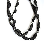 "Украшения handmade. Livemaster - original item Ожерелье из серии ""Кокон"",черный фарфор. Handmade."