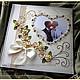 """Свадебные фотоальбомы ручной работы. Альбом с бумаж. л. """"Сердце """" в коробке  разные цве. Кинзерская Светлана (cryptic-cards). Ярмарка Мастеров."""