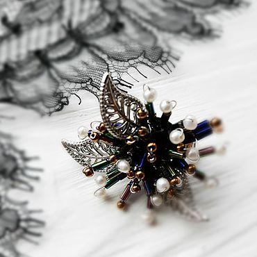 """Украшения ручной работы. Ярмарка Мастеров - ручная работа Брошь """" Осенняя хризантема"""". Handmade."""