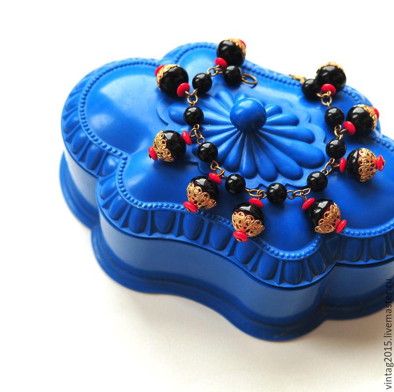 "Винтаж: ""Чики -чики-та."" - яркий винтажный браслет, , Москва, Фото №1"