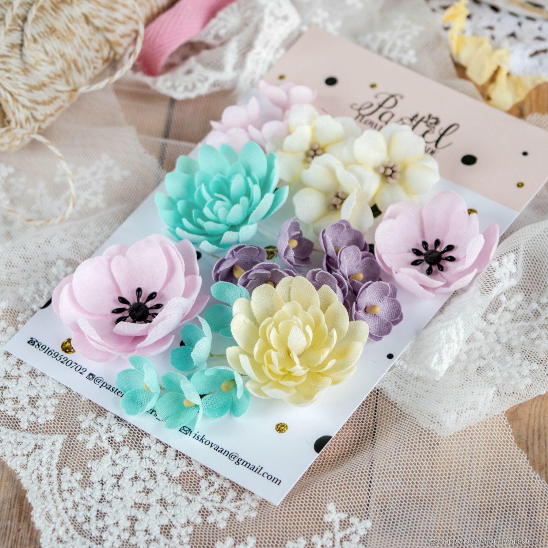 Набор цветочков от Pastel flowers, Элементы для скрапбукинга, Сосновый Бор,  Фото №1