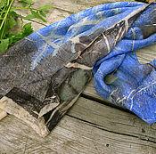 Аксессуары ручной работы. Ярмарка Мастеров - ручная работа Шелковый шарф Вечер, микс принт. Handmade.