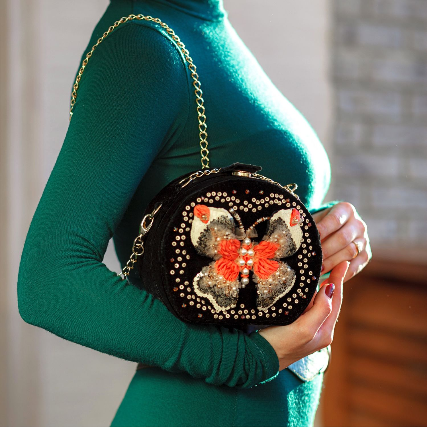 Bag with butterfly, Crossbody bag, Moscow,  Фото №1