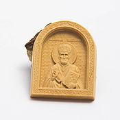 Украшения handmade. Livemaster - original item Pectoral icon of St. Nicholas the Wonderworker. Handmade.