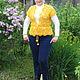Жилеты ручной работы. Ярмарка Мастеров - ручная работа. Купить Жилет женский вязаный Солнечный. Handmade. Желтый, жилет ажурный