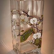 """Для дома и интерьера ручной работы. Ярмарка Мастеров - ручная работа Ваза """"Белые Орхидеи"""". Handmade."""