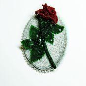 Украшения handmade. Livemaster - original item WINTER ROSE. a beaded brooch. Handmade.