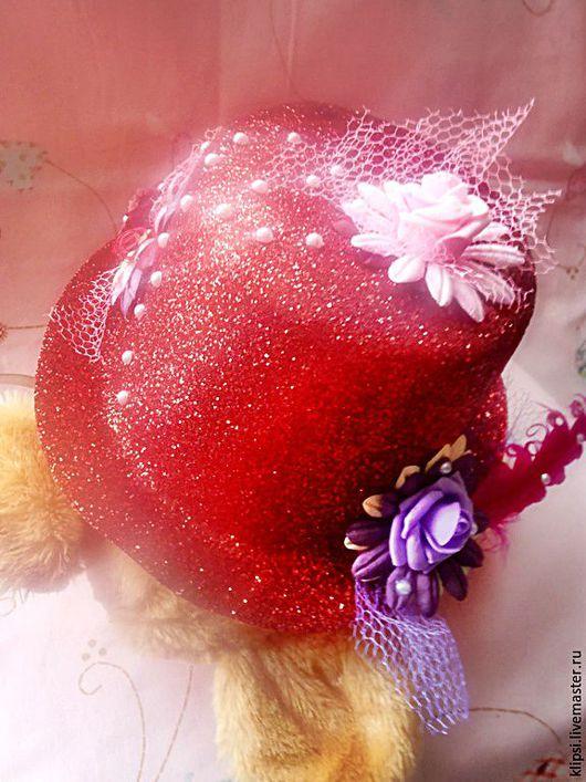 Шляпы ручной работы. Ярмарка Мастеров - ручная работа. Купить Шляпка для праздника или фотосессии. Handmade. Ярко-красный, шляпа