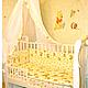 """Для новорожденных, ручной работы. Набор 7 предметов """"Мишки в небе"""" из бязи. Elena (kinderklein). Интернет-магазин Ярмарка Мастеров."""
