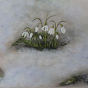 """Картины и панно ручной работы. Ярмарка Мастеров - ручная работа """" Первое дыхание весны """". Handmade."""