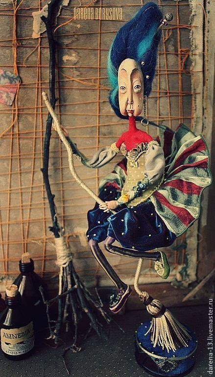 Коллекционные куклы ручной работы. Ярмарка Мастеров - ручная работа. Купить Бабушка Дарёна. Handmade. Тёмно-синий, кукла в подарок