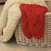 Аксессуары handmade. Livemaster - original item Socks woolen openwork surround of yarn