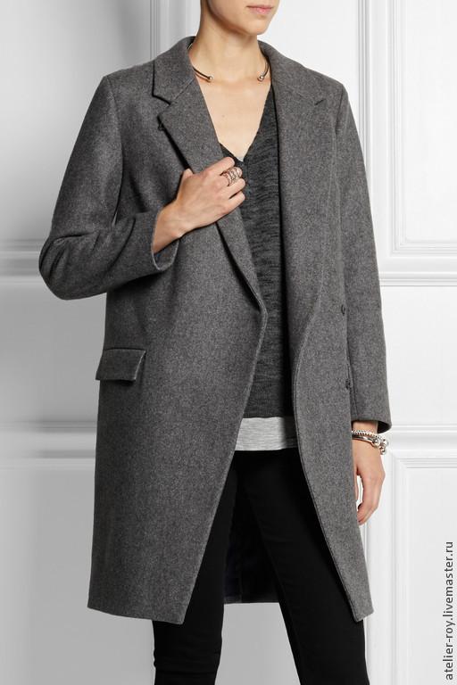 Верхняя одежда ручной работы. Ярмарка Мастеров - ручная работа. Купить Пальто №18. Handmade. Серый, шерсть, пальто из шерсти