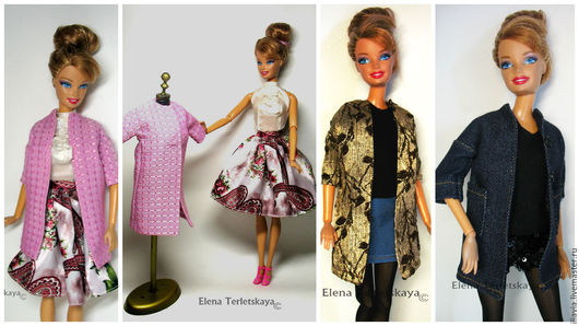 Одежда для кукол ручной работы. Ярмарка Мастеров - ручная работа. Купить Пальто во французском стиле    для кукол Барби и  Monster High. Handmade.
