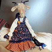 Куклы и игрушки handmade. Livemaster - original item Goat in a sundress and Blue bird. Handmade.