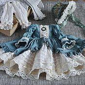 Одежда для кукол ручной работы. Ярмарка Мастеров - ручная работа Одежда для куклы БЖД Минифи, BJD Minifee, Винтажное платье. Handmade.