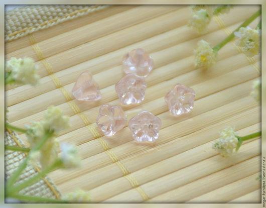 Для украшений ручной работы. Ярмарка Мастеров - ручная работа. Купить Чешские цветочки 6 х 8 мм Розовые. Handmade.