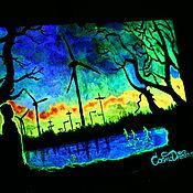 Картины и панно handmade. Livemaster - original item Glow-in-the-dark painting