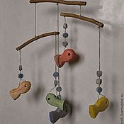 Куклы и игрушки handmade. Livemaster - original item wood-and-thread crib mobile. Handmade.
