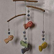 Куклы и игрушки ручной работы. Ярмарка Мастеров - ручная работа деревянный мобиль для детской кроватки. Handmade.