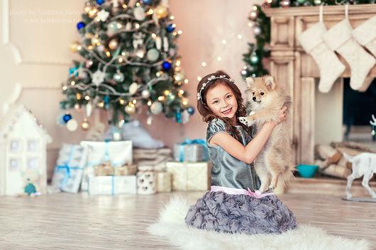 Диадемы, обручи ручной работы. Ярмарка Мастеров - ручная работа. Купить Новогодний ободок - Princesse des neiges. Handmade. веночек