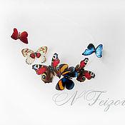 """Колье ручной работы. Ярмарка Мастеров - ручная работа Колье из шелковых бабочек """"Летний луг"""". Handmade."""