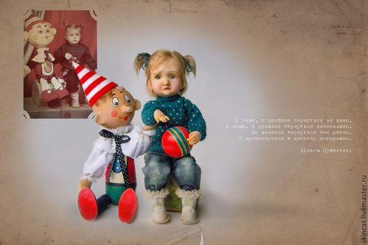 """Портретные куклы ручной работы. Ярмарка Мастеров - ручная работа. Купить """"Не бойся меня, малыш!"""". Handmade. Девочка, джинса"""