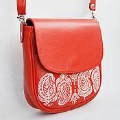 Сумки и аксессуары ручной работы. Ярмарка Мастеров - ручная работа Ярко-оранжевая сумочка. Handmade.
