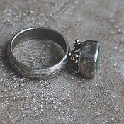 Украшения handmade. Livemaster - original item Emerald ring, 17,2 size, silver and gold. Handmade.