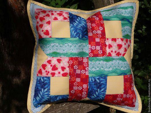 Текстиль, ковры ручной работы. Ярмарка Мастеров - ручная работа. Купить Диванная подушка. Handmade. Диванные подушки, лоскутная техника