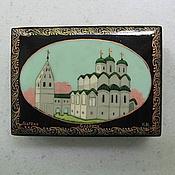 Винтаж handmade. Livemaster - original item Vintage lacquer box, mster. Handmade.