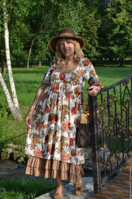Платья ручной работы. Ярмарка Мастеров - ручная работа. Купить платье  бохо стиль.Лето отдых. Handmade. Белый, для женщин