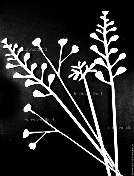 """Искусственные растения ручной работы. Ярмарка Мастеров - ручная работа. Купить Цветы из фанеры """"Цветочная поляна"""". Handmade. Белый, фанера"""