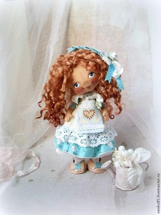 Коллекционные куклы ручной работы. Ярмарка Мастеров - ручная работа. Купить Лили. Handmade. Голубой, в стиле шебби-шик