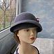 """Шляпы ручной работы. Ярмарка Мастеров - ручная работа. Купить шляпка """"Аида"""". Handmade. Бледно-сиреневый, шляпы валяные"""