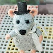 """Куклы и игрушки ручной работы. Ярмарка Мастеров - ручная работа Войлочная игрушка """"Мистер Мышь"""". Handmade."""