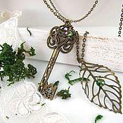 Украшения handmade. Livemaster - original item Pendant Key Chain from the woodland Realm Vintage Green Leaf. Handmade.