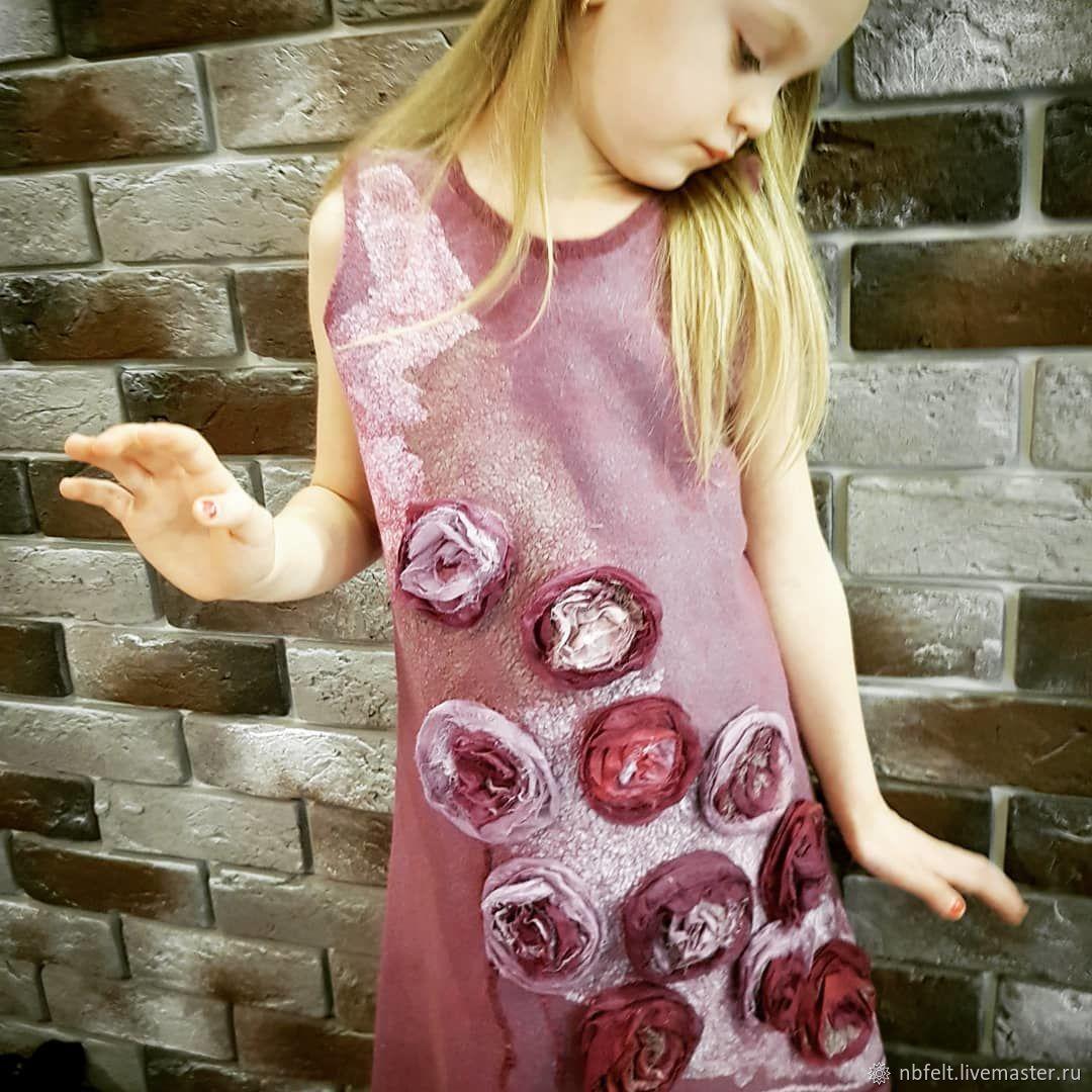 Платье валяное Black baccara роза