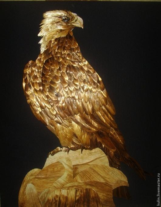Животные ручной работы. Ярмарка Мастеров - ручная работа. Купить Горный орёл. Handmade. Золотой, Соломка, солома