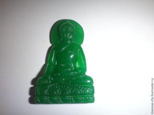 Кулоны, подвески ручной работы. Ярмарка Мастеров - ручная работа. Купить кулон будда из нефрита. Handmade. Зеленый, Натуральный нефрит