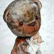 Куклы и игрушки ручной работы. Ярмарка Мастеров - ручная работа Миш тедди Людовик - (купить тедди, мятный, серый). Handmade.