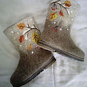 """Обувь ручной работы. Ярмарка Мастеров - ручная работа Валенки,,На первый снег"""". Handmade."""
