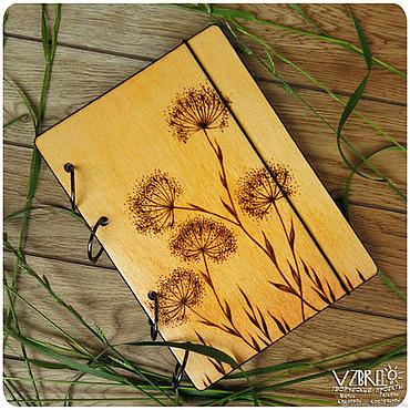 "Stationery handmade. Livemaster - original item Wooden notebook ""August"" - 3. Handmade."