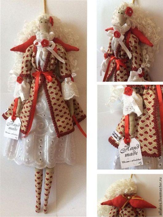 Куклы Тильды ручной работы. Ярмарка Мастеров - ручная работа. Купить Ангел сердец Розета. Handmade. Интерьерная кукла