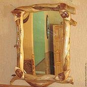 Для дома и интерьера ручной работы. Ярмарка Мастеров - ручная работа Зеркало с полочкой из капа. Handmade.